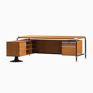 Vintage Executive Desk by Ico Parisi for M.I.M