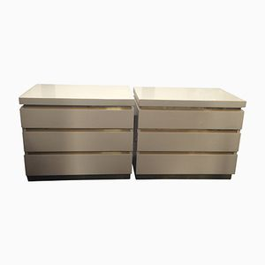 Chest of Drawers by Jean-Claude Mahey, 1970s, Set of 2