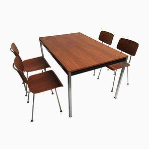 Modell 1263 Stühle und Esstisch von A.R. Cordemeijer für Gispen, 1960er