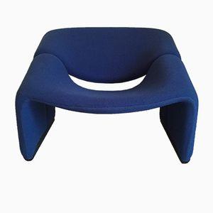 Blauer M-Chair von Pierre Paulin für Artifort, 1980er