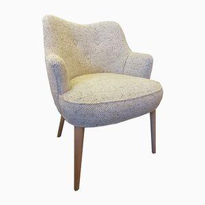 Chaise d'Appoint Avoine en Tweed, 1950s