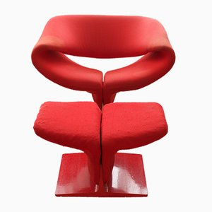 Ribbon Chair with Ottoman by Pierre Paulin for Artifort, 1960s