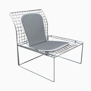 Silver Wire Metal Side Chair, 1970s