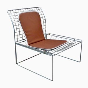 Silver Wire Metal Chair, 1970s