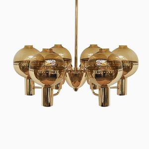 Swedish Patricia Brass Chandelier from Hans-Agne Jakobsson, 1960s