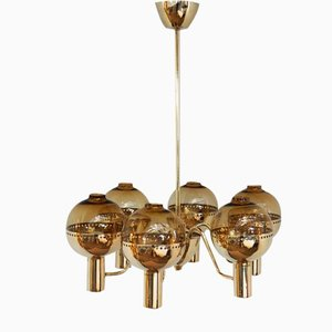 Patricia Brass Chandelier from Hans Agne Jakobsson, 1960s