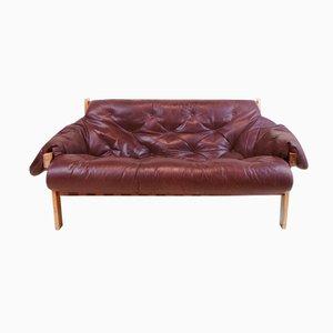 Brazilian Sofa in Brown Leather, 1960s