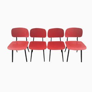 Dutch Revolt Chairs by Friso Kramer for Ahrend De Circel, 1954, Set of 4