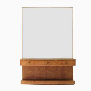 Italienischer Konsolentisch mit Großem Spiegel, 1940er