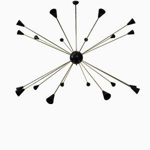 Vintage Large Italian Sputnik Chandelier