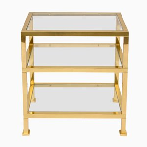 Gilt Brass Side Table, 1970s