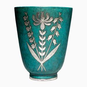Vintage Argenta Vase von Wilhelm Kåge für Gustavsber