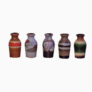 Vintage Modell 523-18 Vasen von Scheurich, 5er Set