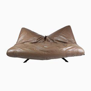 Ribalta Leather Sofa by F. Ballardini and F. Forbicini for Arflex, 1988