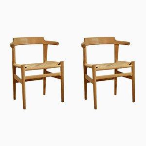 Dänische Esszimmerstühle von Hans J. Wegner für PP Møbler, 2er Set