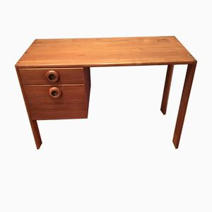 Scandinavian Desk with Two Side Drawers, 1960s