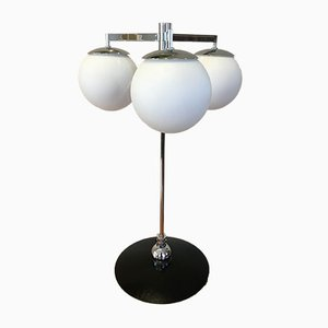 Black-Lacquered Metallic Table Lamp, 1960s