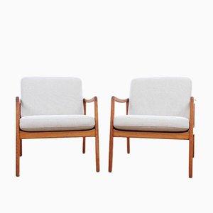Dänische Mid-Century Modern Lounge Stühle Modell 110 von Ole Wanscher für France & Son, 1951, 2er Set