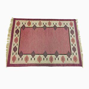 Mid-Century Swedish Vintage Flatweave Carpet
