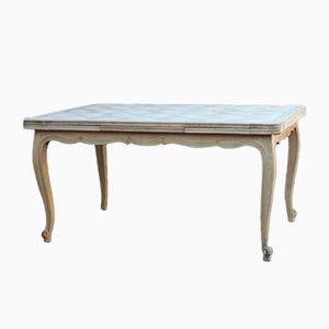 Table de Salon Vintage en Chêne Blanchi à Rallonge