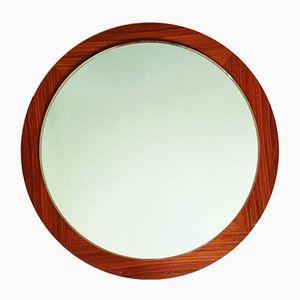 Danish Teak Circular Wall Mirror, 1960s