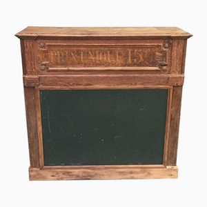 Vintage French Shop Counter with Writing