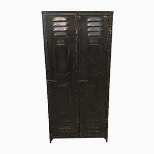Vintage Riveted Cloakroom Locker from Schwartz-Hautmont