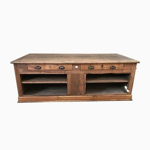 Large Antique French Countertop Buffet