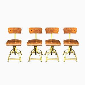 Chaises de Bureau Vintage de Atelier Bienaise, Set de 4