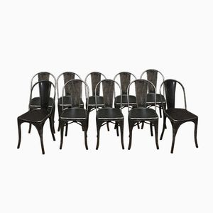 Vintage Model B Stühle von Xavier Pauchaird für Tolix, 10er Set
