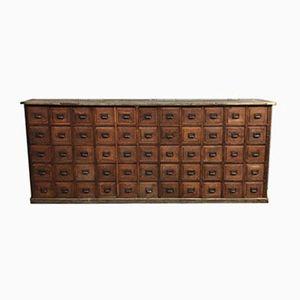 Großer Vintage Schrank mit 55 Schubfächern