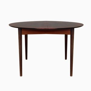Round Dining Table with Wooden Inlays, 1960s