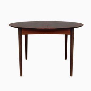Table de Salon Ronde avec Motifs en Bois, 1960s