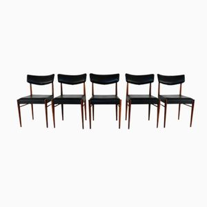 Dutch Rosewood Dining Chairs, 1960s, Set of 5