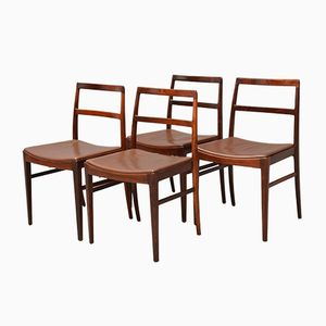 Model 430 Rosewood Dining Chairs by Arne Vodder for Sibast, 1950s, Set of 4