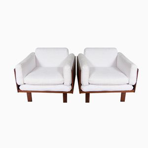 Vintage Lounge Chairs by Poul Cadovius for France and Son, Set of 2