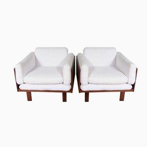 Vintage Lounge Sessel von Poul Cadovius für France & Son, 2er Set