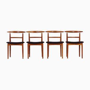 Dänische Vintage Esszimmerstühle von Helge Sibast, 4er Set