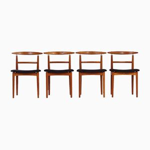 Vintage Danish Dining Chairs by Helge Sibast for Sibast, Set of 4
