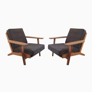 Vintage GE290 Chairs by Hans Wegner for Getama, Set of 2