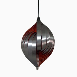 Suspension Lamp by Henri Mathieu for Lyfa, 1970s