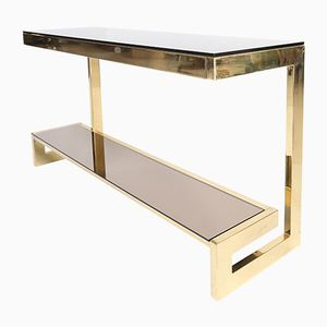 Gold Plated G Console Table from Belgochrom, 1970s