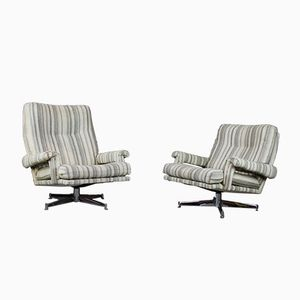 Vintage Swivel Armchairs by Howard Keith for HK London, Set of 2