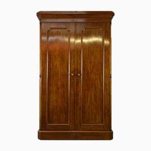 Doppelter Verzierter Viktorianischer Garderobenschrank aus Mahagoni