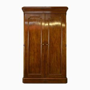 Victorian Figured Mahogany Double Wardrobe