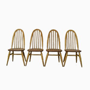 Vintage Quaker Style Dining Chairs from Ercol, Set of 4