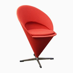 Vintage Red Cone Chair by Verner Panton