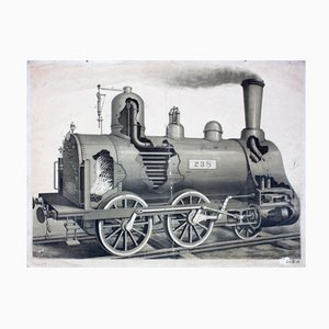 Affiche Murale Locomotive 1912