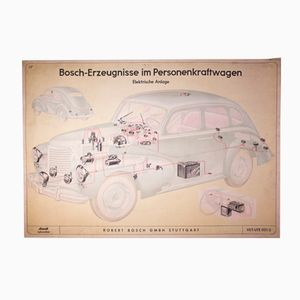 Car Wall Chart from Robert Bosch, 1949