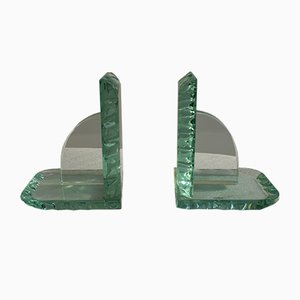 Crystal Bookends, 1950s, Set of 2